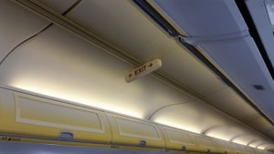 Alaska Airline. Exit Row.